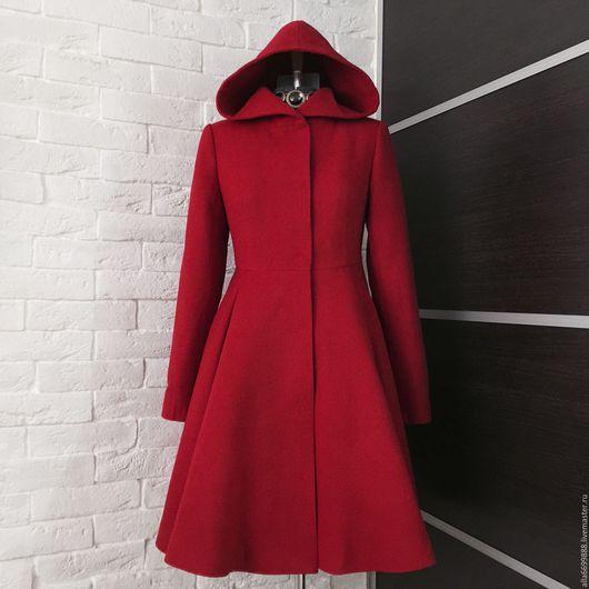 Верхняя одежда ручной работы. Ярмарка Мастеров - ручная работа. Купить Пальто-платье с капюшоном. Handmade. Пальто, драп