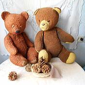 Винтаж ручной работы. Ярмарка Мастеров - ручная работа Два стареньких медведя. Сделано в СССР,. Handmade.