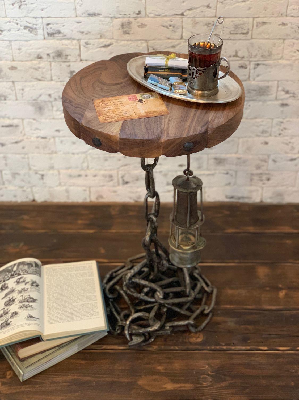 Стол из массива американского ореха с цепью, Столы, Санкт-Петербург,  Фото №1