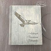 Канцелярские товары handmade. Livemaster - original item Named wooden sketchbook