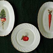"""Посуда ручной работы. Ярмарка Мастеров - ручная работа Набор тарелок -1 """" Овощное королевство"""". Handmade."""