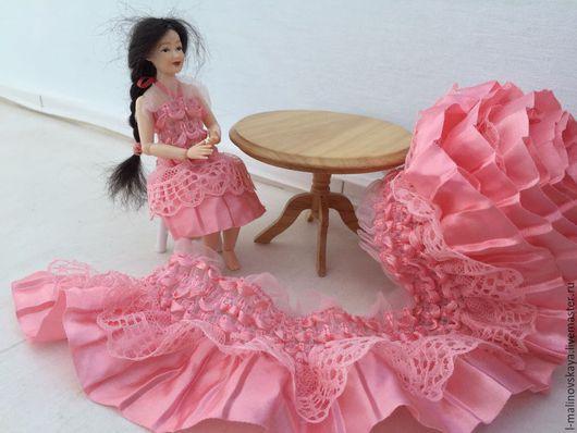 Куклы и игрушки ручной работы. Ярмарка Мастеров - ручная работа. Купить Кружевная комбинированная чудо-лента (ширина 8см). Handmade.