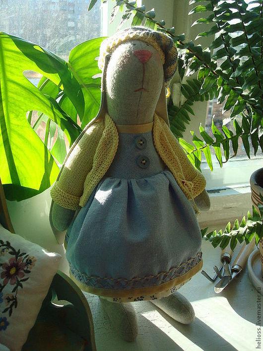 Куклы Тильды ручной работы. Ярмарка Мастеров - ручная работа. Купить Зайка Оля. Handmade. Игрушка, хлопок
