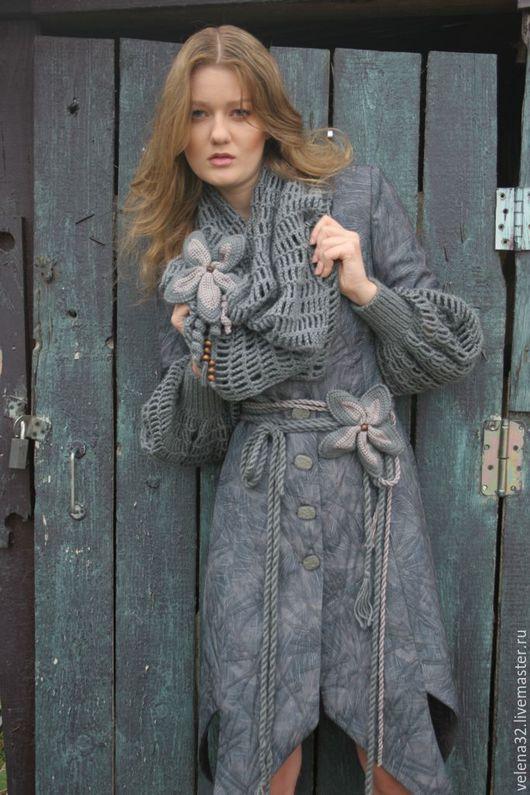 """Верхняя одежда ручной работы. Ярмарка Мастеров - ручная работа. Купить Пальто """"Василина"""". Handmade. Серый, пальто, пальто демисезонное"""
