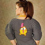 Одежда ручной работы. Ярмарка Мастеров - ручная работа Платье с цыпленком. Handmade.