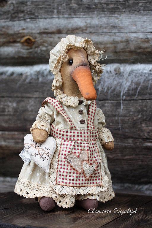 Ароматизированные куклы ручной работы. Ярмарка Мастеров - ручная работа. Купить Гусыня.. Handmade. Хлопок