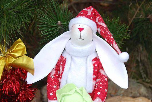 Куклы Тильды ручной работы. Ярмарка Мастеров - ручная работа. Купить Санта -Заяц. Handmade. Символ нового года, флис