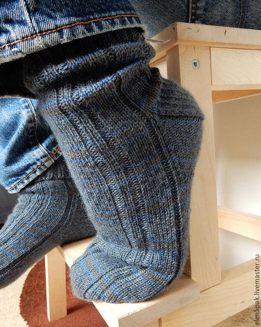 Мужские шерстяные носки на 42/43 размер ноги. Ручная работа. Магазин мастера Елена Пак.