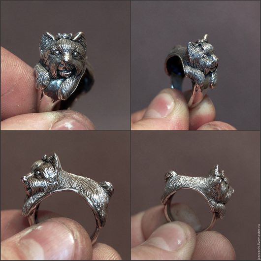 """Кольца ручной работы. Ярмарка Мастеров - ручная работа. Купить Кольцо """"Йорк"""". Handmade. Кольцо, перстень, серебро, серебряный, собака"""