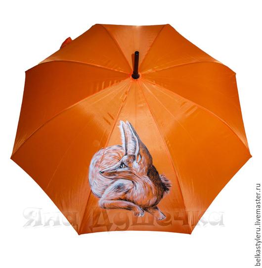 """Зонты ручной работы. Ярмарка Мастеров - ручная работа. Купить Зонт с росписью """"Песчаная лиса"""". Handmade. Зонт, яркий зонт"""