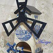 """Для дома и интерьера ручной работы. Ярмарка Мастеров - ручная работа """"Делфтский фарфор"""" Чайный домик-мельница. Handmade."""