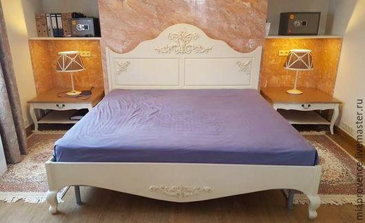 Мебель ручной работы. Ярмарка Мастеров - ручная работа. Купить Кровать (каркас с резными элементами). Handmade. Бежевый, кровать из дерева
