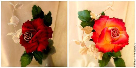 """Цветы ручной работы. Ярмарка Мастеров - ручная работа. Купить Интерьерная роза """"Glory"""" из японского бархата.. Handmade. Бордовый"""