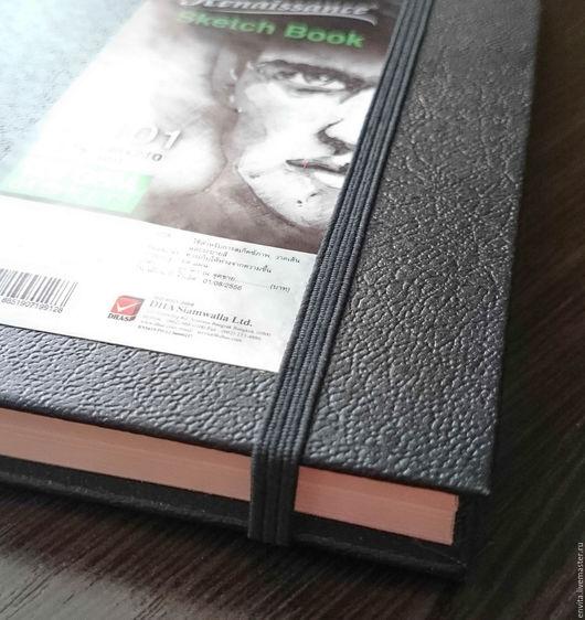 Блокноты ручной работы. Ярмарка Мастеров - ручная работа. Купить Скетчбук, блокнот для рисования и набросков. Handmade. Черный, блокнот для записей