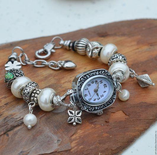 Часы ручной работы. Ярмарка Мастеров - ручная работа. Купить Часы жемчужные с браслетом в европейском стиле.. Handmade. часы оригинальные