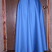 Одежда ручной работы. Ярмарка Мастеров - ручная работа Юбка-полусолнце  синяя. Handmade.