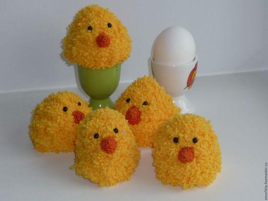 """Подарки на Пасху ручной работы. Ярмарка Мастеров - ручная работа. Купить Грелка для яйца """"Цыплёнок"""". Handmade. Желтый, пасхальный подарок"""