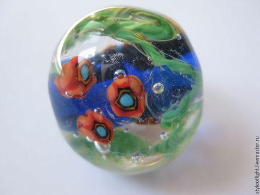 """Кулоны, подвески ручной работы. Ярмарка Мастеров - ручная работа. Купить Кулон-аквариум из муранского стекла """"Морские цветы"""". Handmade."""