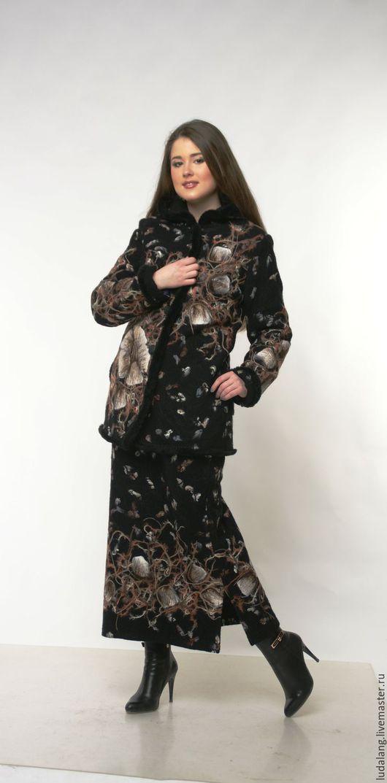 Верхняя одежда ручной работы. Ярмарка Мастеров - ручная работа. Купить Костюм зимний Магия черного. Handmade. Черный