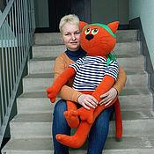 Куклы и игрушки ручной работы. Ярмарка Мастеров - ручная работа Рыжий кот Зефир - сшито на заказ. Handmade.