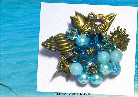 брошь летняя купить  брошь фото   брошь морская тема   голубая брошь   аквамариновая брошь   брошки  брошка   брошь цена   купить брошь  брошь фото   стильная брошь   брошь рыбка   скидки  скидка