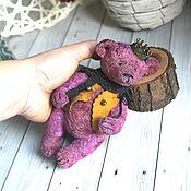 Мишки Тедди ручной работы. Ярмарка Мастеров - ручная работа Тедди мишка Аметистик. Handmade.