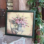 Картины и панно ручной работы. Ярмарка Мастеров - ручная работа Картина, вышивка крестиком. Цветы. Handmade.
