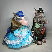 Куклы и игрушки handmade. Livemaster - original item Wild boar and wild boar (price for a pair). Handmade.
