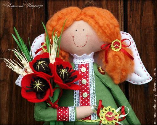 Коллекционные куклы ручной работы. Ярмарка Мастеров - ручная работа. Купить Маковый Ангел. Девочка Ангел.. Handmade. Ярко-красный