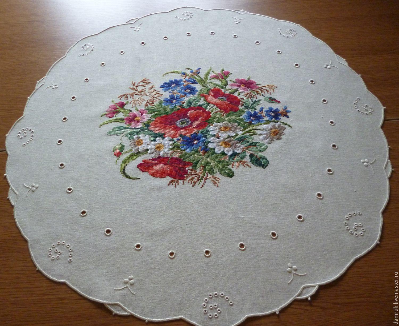 Ручная вышивка салфеток
