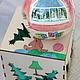 Новогоднее елочное украшение. Небьющийся елочный шар. Рождественский подарок на память.