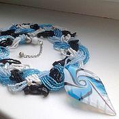 "Necklace handmade. Livemaster - original item Колье ""Вихри снежные крутя"".. Handmade."