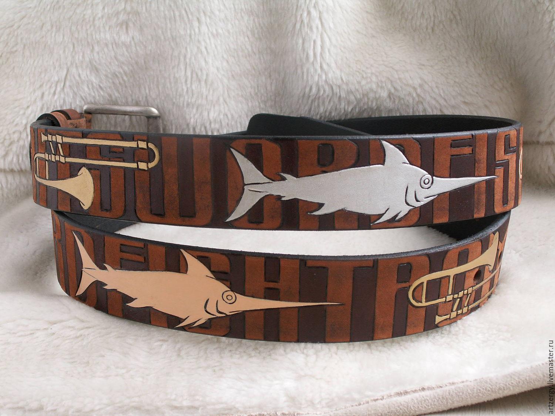 Swordfish-TROMBONES leather belt, Straps, Moscow,  Фото №1