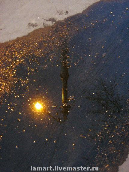 """Фотокартины ручной работы. Ярмарка Мастеров - ручная работа. Купить Фотокартина """"Призрак"""". Handmade. Фото, отражение, вода, фонарь, ночь"""