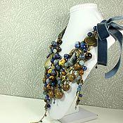 Украшения handmade. Livemaster - original item Denim Voyage. necklace. Handmade.