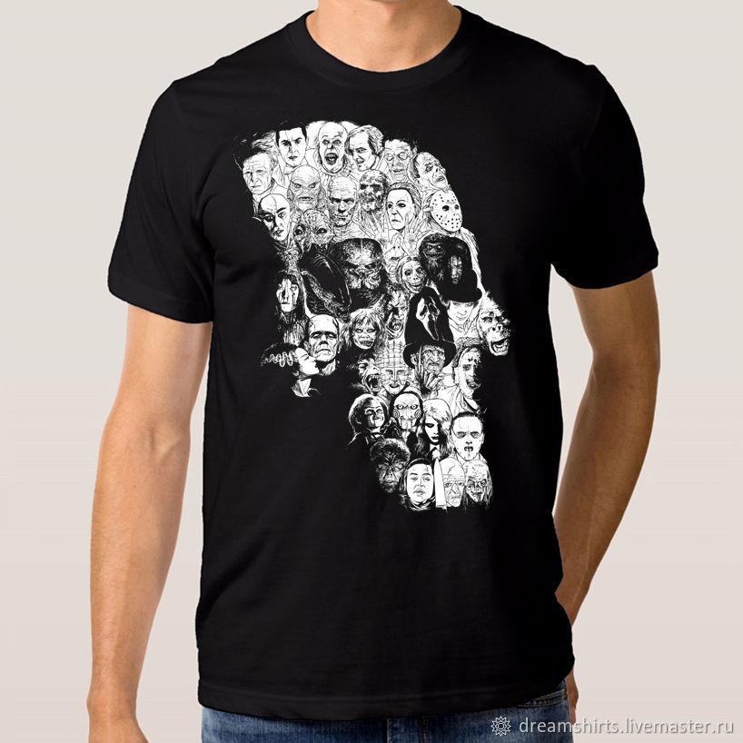 "Футболка хлопковая ""Череп - Ужастики"", T-shirts, Moscow,  Фото №1"