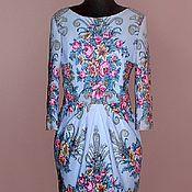 Одежда ручной работы. Ярмарка Мастеров - ручная работа Платье из павловопосадского платка на подкладке. Handmade.