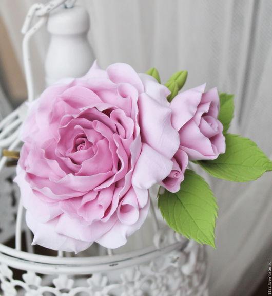 """Свадебные украшения ручной работы. Ярмарка Мастеров - ручная работа. Купить Заколка """"Винтажная роза"""". Handmade. Розовый"""