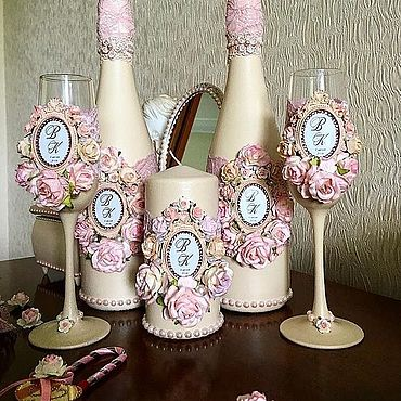 Свадебный салон ручной работы. Ярмарка Мастеров - ручная работа Свадебный набор «Шебби Шик». Handmade.