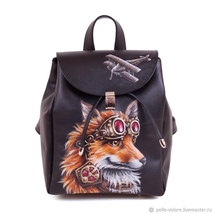 Backpacks handmade. Livemaster - handmade. Buy Women s backpack  Fox pilot . d0121b933abec