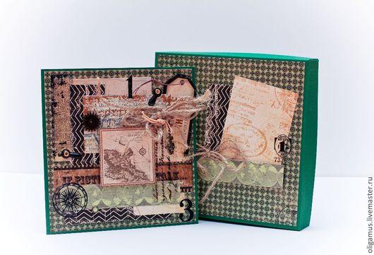 Открытки для мужчин, ручной работы. Ярмарка Мастеров - ручная работа. Купить Мужская открытка в коробке 6. Handmade. мужской подарок