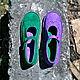 Обувь ручной работы. Ярмарка Мастеров - ручная работа. Купить Кожаные туфли Куда уходит детство...зелень&сирень. Handmade.
