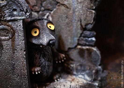 Сказочные персонажи ручной работы. Ярмарка Мастеров - ручная работа. Купить Ба-волк. Handmade. Серый, необычное существо