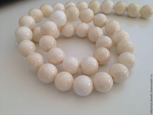 Для украшений ручной работы. Ярмарка Мастеров - ручная работа. Купить Коралл белый бусины. Handmade. Коралл, бусины коралл