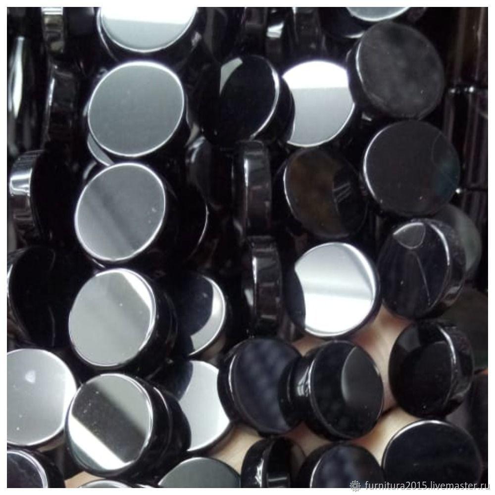 Черный агат монетки 14 мм. шт, Бусины, Саратов,  Фото №1