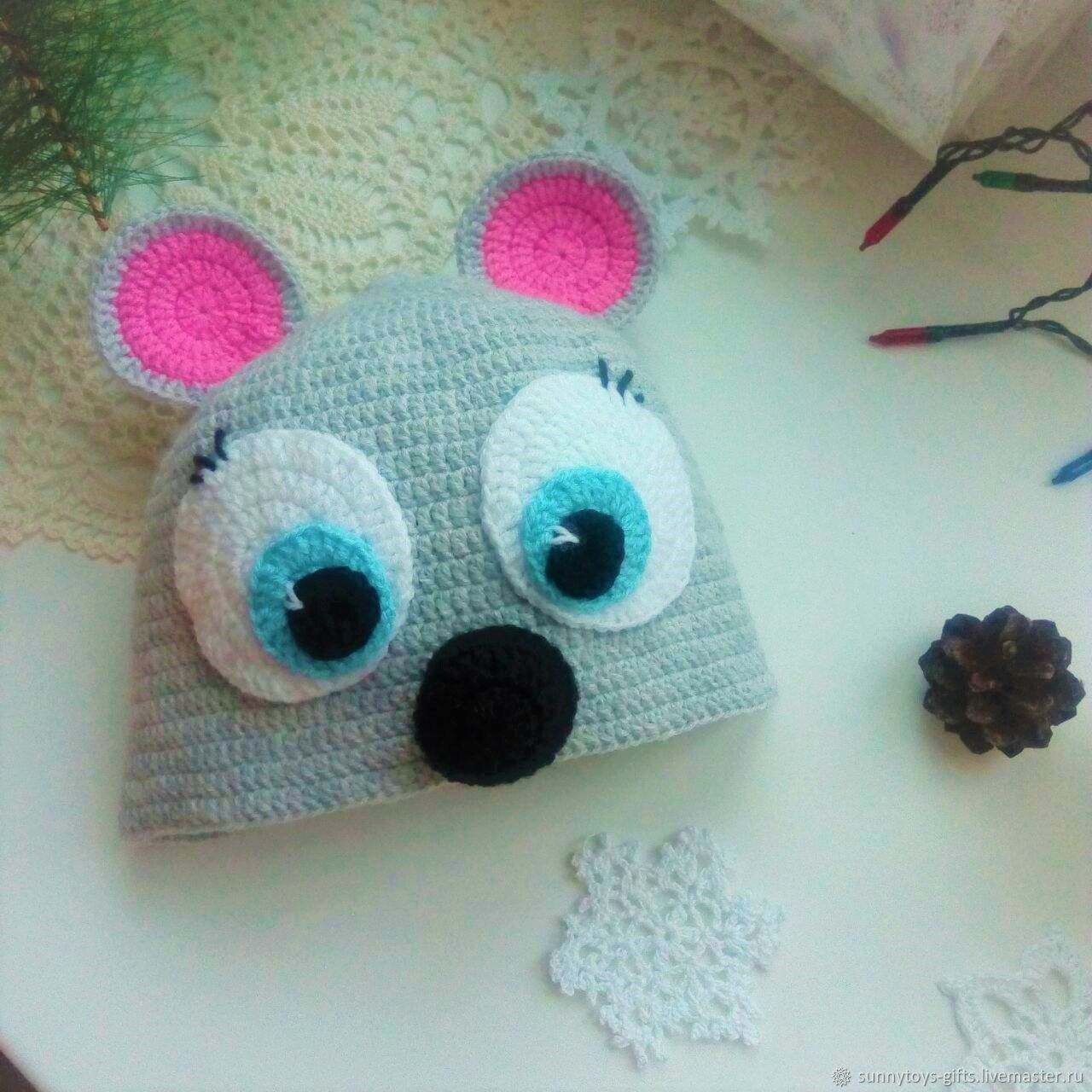 Mouse - hat knitted, Carnival costumes for children, Berezovsky,  Фото №1