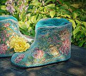 """Обувь ручной работы. Ярмарка Мастеров - ручная работа Чуни """"Летние сумерки"""". Handmade."""