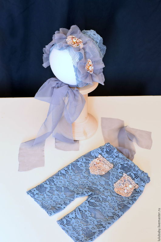 """Для новорожденных, ручной работы. Ярмарка Мастеров - ручная работа. Купить набор шапочка и штанички для фотосессии новорожденных """" зефирка"""". Handmade."""