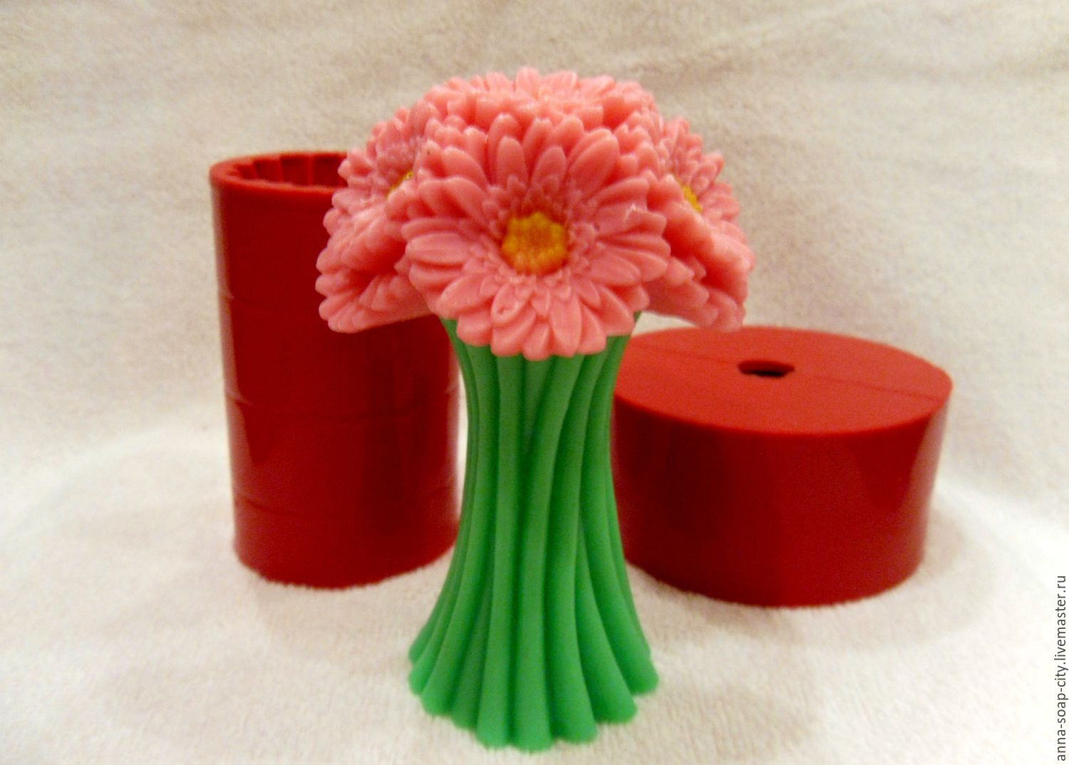 Silicone mold for soap and candles ' Bouquet Gerber', Form, Arkhangelsk,  Фото №1