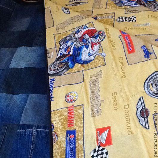 Текстиль, ковры ручной работы. Ярмарка Мастеров - ручная работа. Купить Лоскутное покрывало из джинс. Handmade. Тёмно-синий, спальня